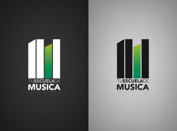 Logotipo, branding para escuela de mu00fasica : Guernik ...
