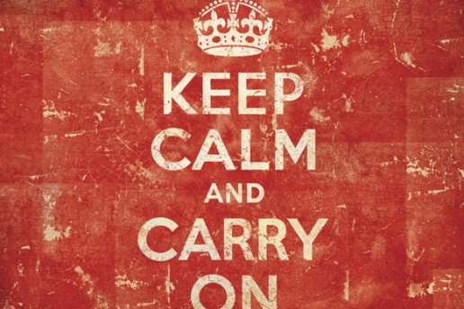 historia del cartel keep calm and carry on